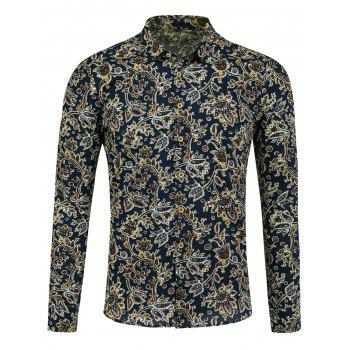 Long Sleeve All Over Paisley Print Shirt