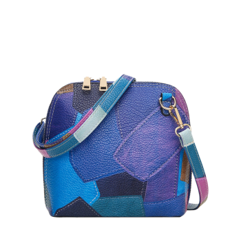 Color Block Zip Around Cross Body Bag