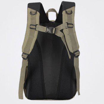 Casual Mesh Insert Nylon Backpack - Kaki Clair