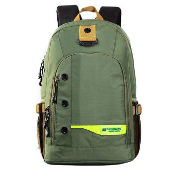 Casual Mesh Insert Nylon Backpack - GREEN GREEN