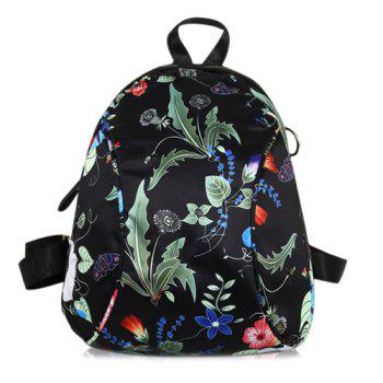 Nylon Floral Print Backpack