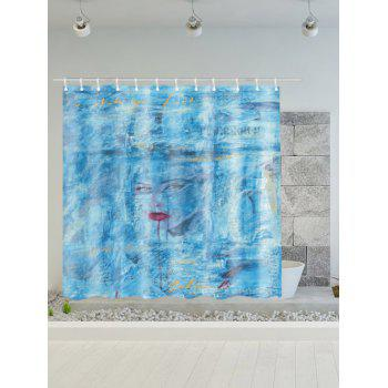 Dream Girl Printing Polyester Waterproof Shower Curtain