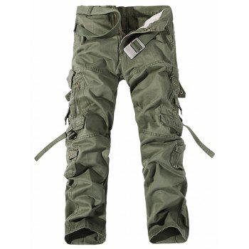 Pockets Zipper Metal Design Cargo Pants