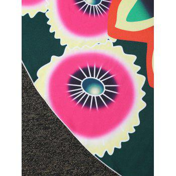 Round Floral Beach Cover Throw -  COLORMIX