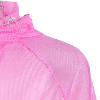 Lightweight Raglan Sleeve Hooded Sun Protection Skin Windbreaker -  ROSE MADDER