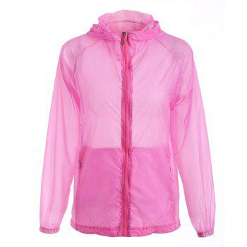 Lightweight Raglan Sleeve Hooded Sun Protection Skin Windbreaker - ROSE MADDER ROSE MADDER