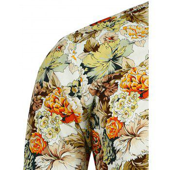 Long Sleeve Peony Printed Shirt - FLORAL FLORAL