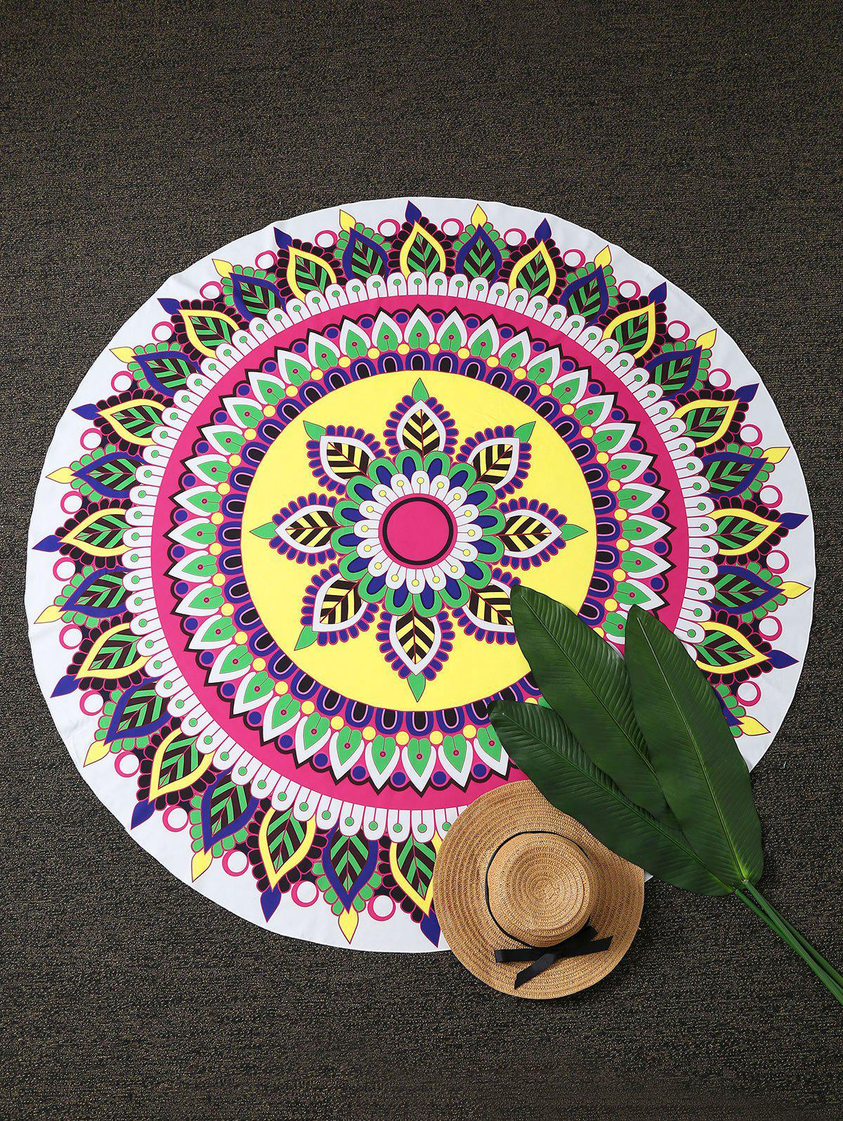 Mandala Lotus Imprimer Plage Round Throw - multicolore ONE SIZE