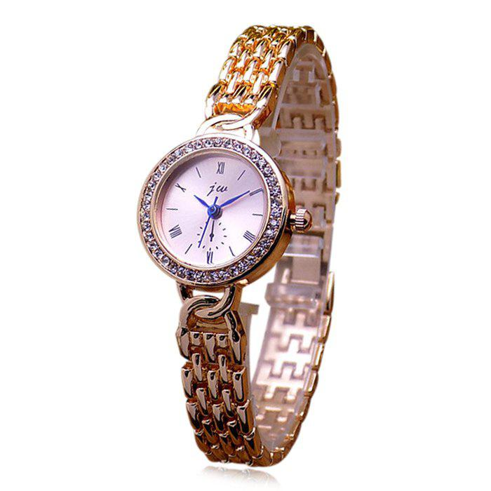 JW Alloy Band Rhinestone Quartz Watch jw 3388 nail scale circular dial female quartz watch alloy band