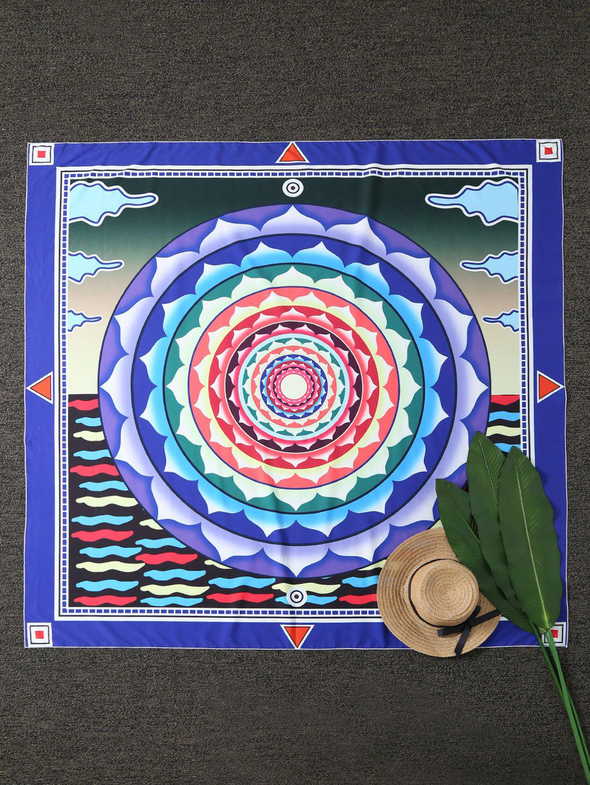 Mandala Square Compass Beach Throw - COLORMIX ONE SIZE