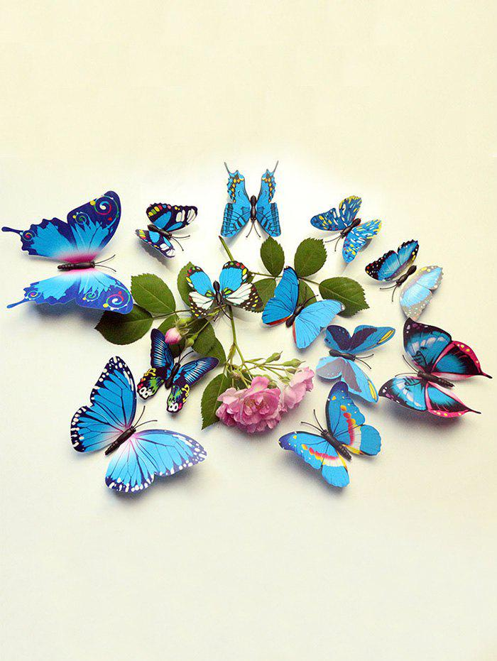 12 Pcs Simulation Butterfly Decor Wall Stickers baja alloy alloy rear wing