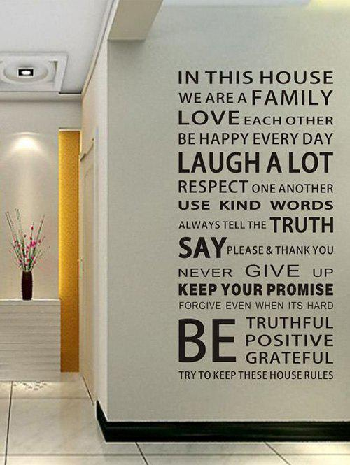 Home Decor We Are Family Proverb Wall Stickers removable go big or go home proverb room office wall stickers