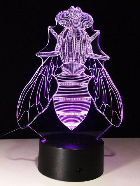 Illusion 3D Fly en forme de LED changement de couleur Night Light - Transparent