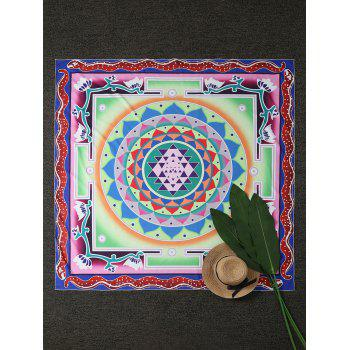 Square Layered Flower Beach Throw Cover
