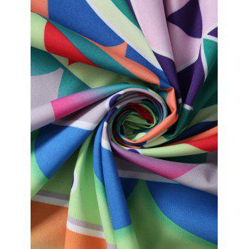 Place Layered Flower Throw Plage Cover - multicolorcolore ONE SIZE
