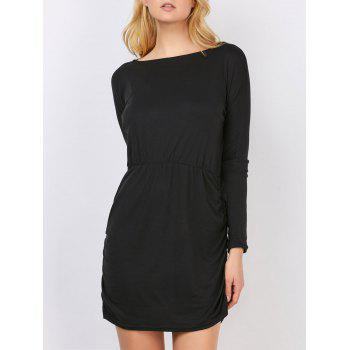 Long Sleeve Mini Blouson Dress