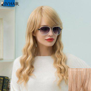 Siv Hair Long Slightly Wavy Sided Bang Human Hair Wig