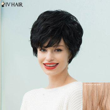 Siv Hair Short Layered Curly Capless Human Hair Wig