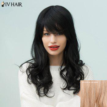 Siv Hair Long Curly Sided Bang Human Hair Wig