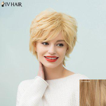 Siv Hair Short Fluffy Layered Sided Bang Human Hair Wig