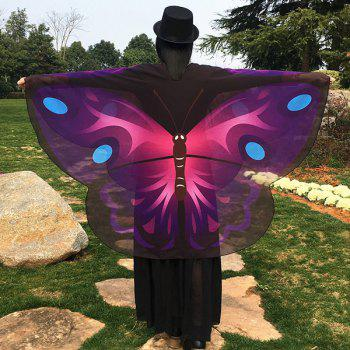 Cartoon Butterfly Wing Shape Chiffon Scarf