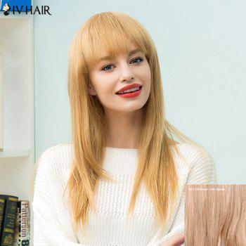 Siv Hair Long Full Bang Straight Human Hair Wig
