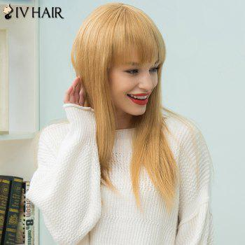 Siv Hair Long Full Bang Straight Human Hair Wig -  LIGHT BLONDE