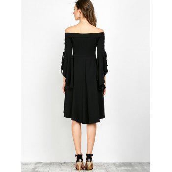 Slit Sleeve Off The Shoulder Gothic Dress - M M