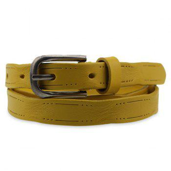 Small Hole Pin Buckle Skinny Belt
