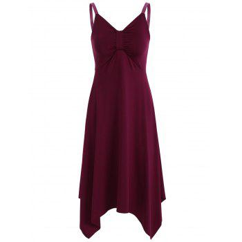 Spaghetti Strap Backless Handkerchief Dress