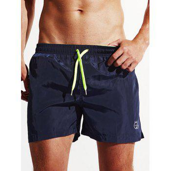 Pocket Design Drawstring Swimming Trunks