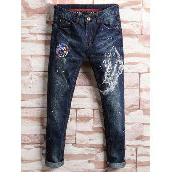 Painted Tapered Jeans