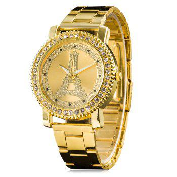 Rhinestone Eiffel Tower Wrist Watch
