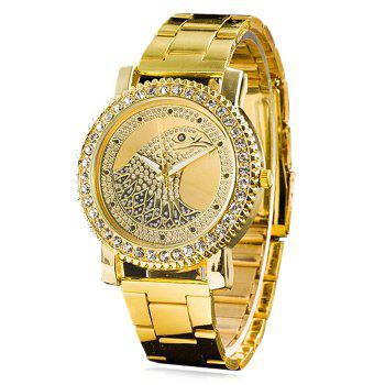 Rhinestone Eagle Head Analog Watch