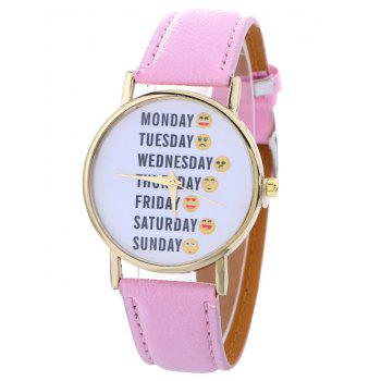 Faux Leather Analog Funny Watch