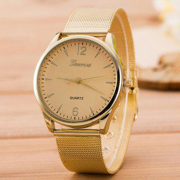 Alloy Mesh Band Analog Watch