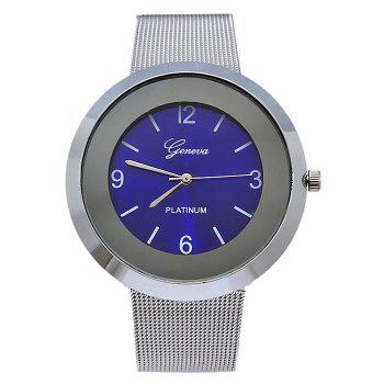 Alloy Mesh Strap Number Analog Watch