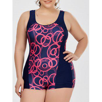 Plus Size Padded Boyshort One Piece Tank Swimsuit