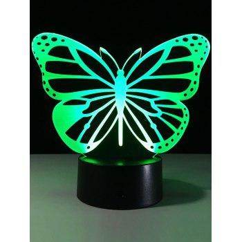 3D Illusion Butterfly Color Change LED Touch Night Light
