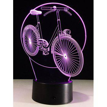 3D Visual Bike Shaped Color Change LED Night Light
