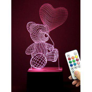 3D Bear LED Color Changing Love Confession Gift Night Light