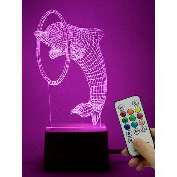 3D LED Dolphin Shaped Color Change Holiday Gift Night Light
