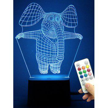 3D Illusion LED Color Change Elephant Night Light Best Gift