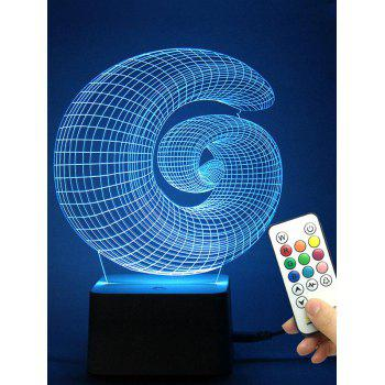 Best Gift 3D Conch Shaped LED Color Change Night Light