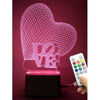 Color Changing 3D Visual Love Heart Best Gift Night Light