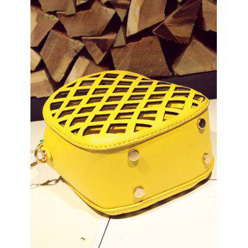 Pineapple Shape Cut Out Crossbody Bag - YELLOW