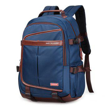 Casual Pad Straps Mesh Panel Backpack - BLUE BLUE