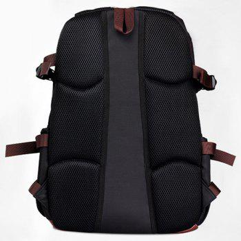Casual Pad Straps Mesh Panel Backpack -  BLUE
