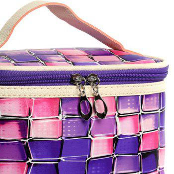 Color Blocking Zip Around Cosmetic Bag -  PURPLE