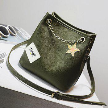 Star Patch Chains Crossbody Bag